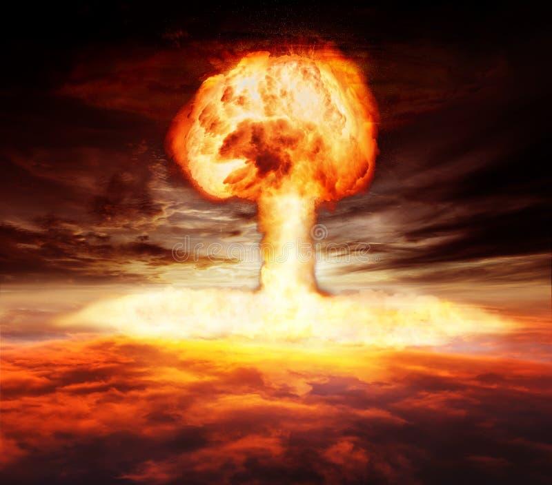 Seta de la explosión de la bomba atómica stock de ilustración