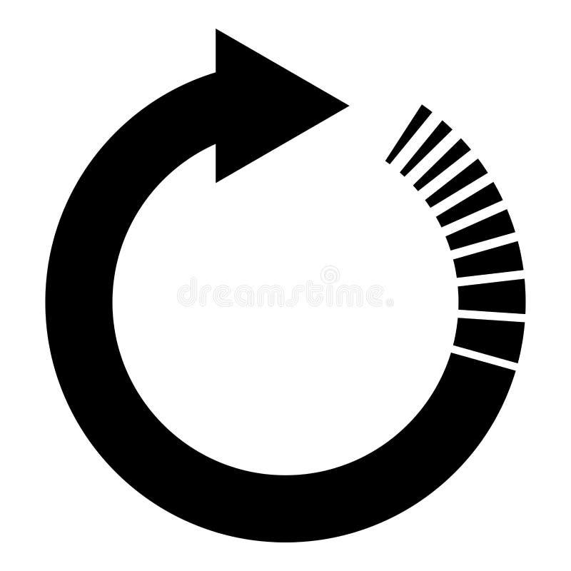A seta do círculo com as setas circulares do efeito da cauda refresca a imagem lisa do estilo da ilustração do vetor da cor do pr ilustração stock