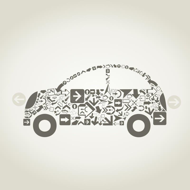 Seta do carro ilustração stock