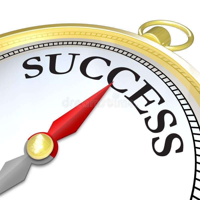 Seta do compasso que aponta ao objetivo de alcance do sucesso ilustração do vetor