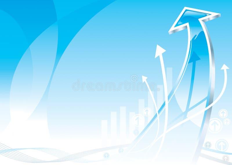 Seta do crescimento ilustração stock