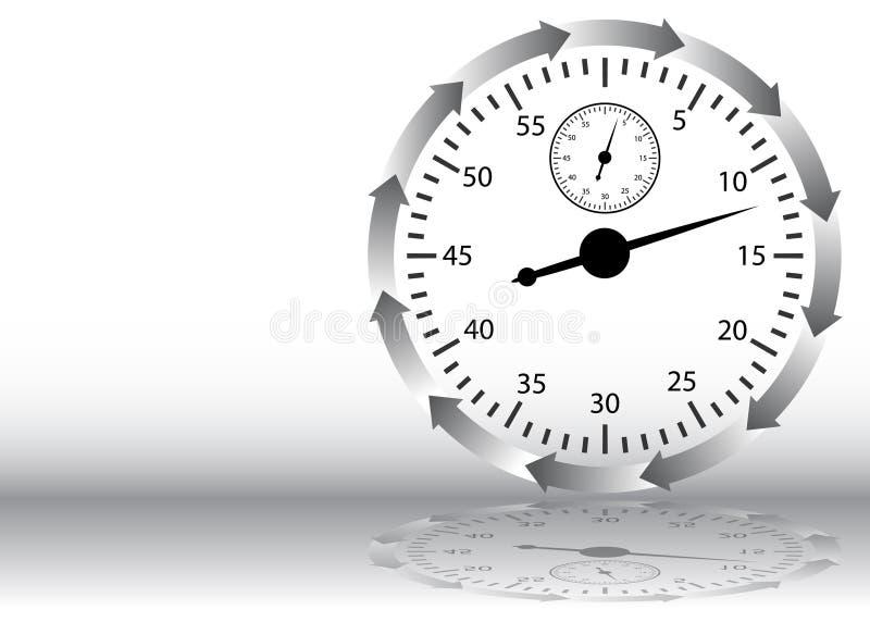 Seta do cronômetro ilustração do vetor