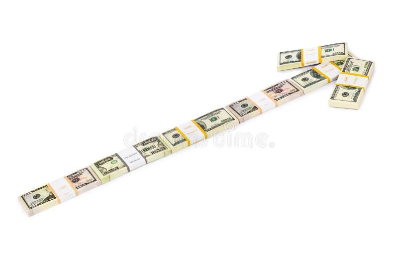 Seta do dinheiro fotografia de stock