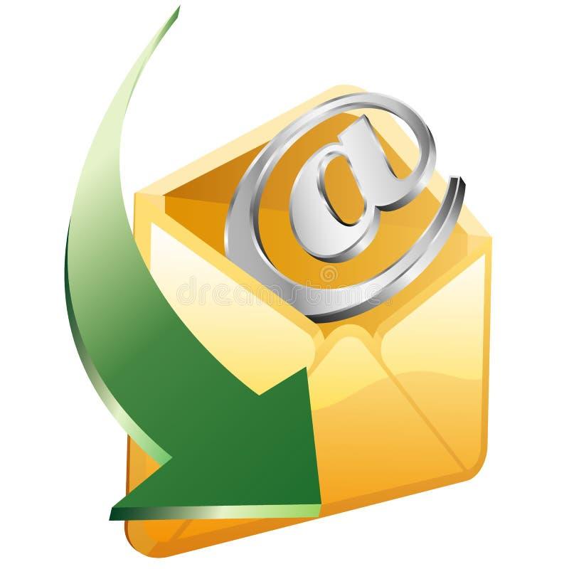 Seta do email ilustração royalty free