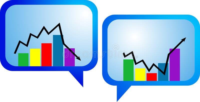 Seta do gráfico de negócio ilustração stock