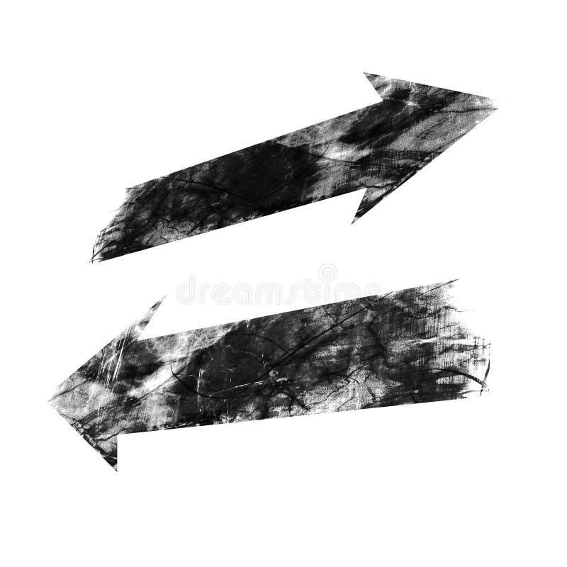 Seta do Grunge ilustração do vetor
