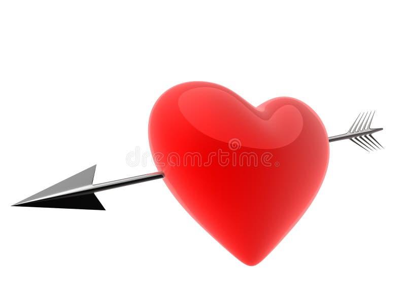 Seta e coração ilustração royalty free