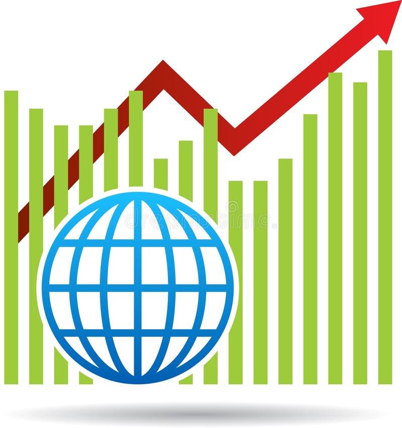 Seta econômica do gráfico ilustração stock