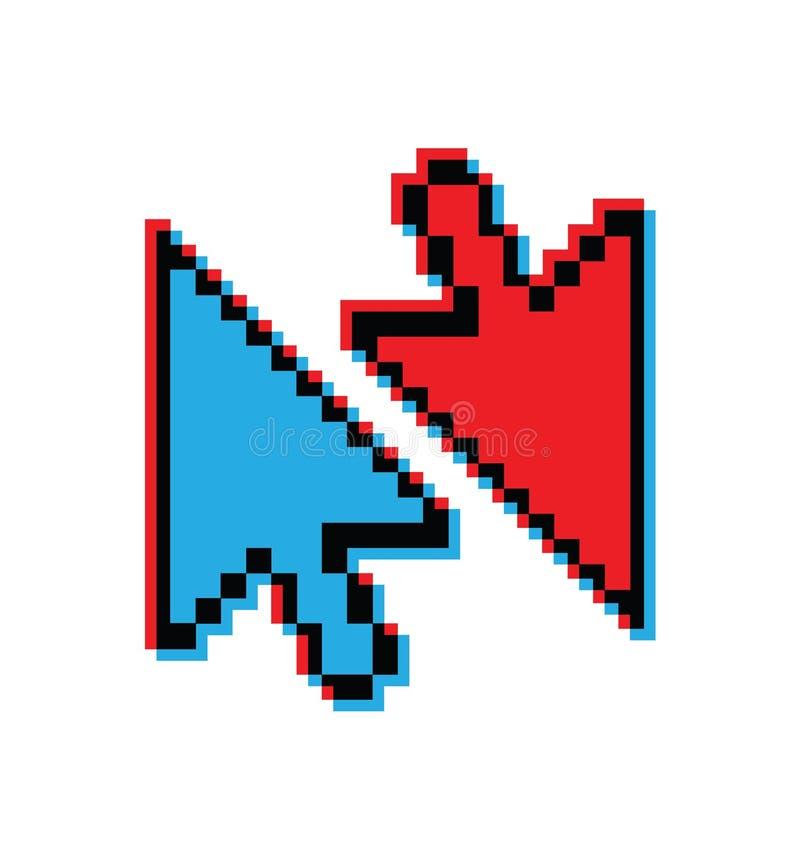 Seta moderna do computador, rato, cursor do pixel, ícone, símbolo para o projeto do site, logotipo, app, ui, ilustração do vetor ilustração stock