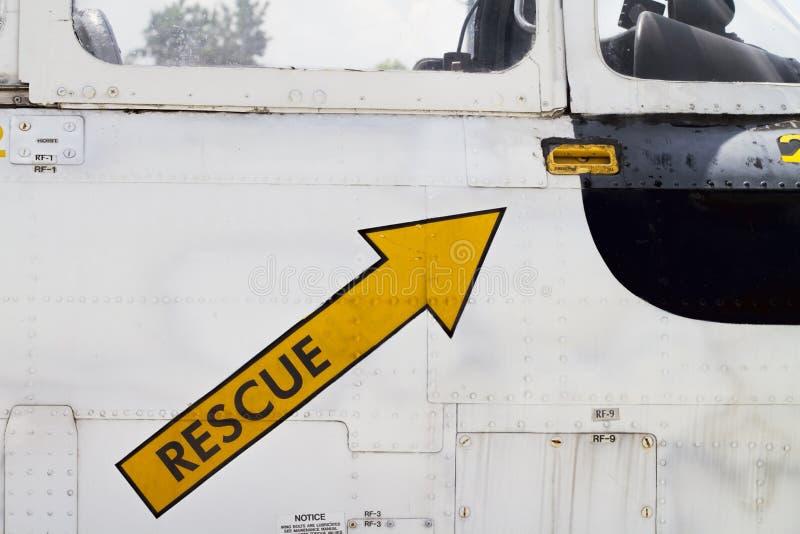 Seta naval do salvamento do avião foto de stock royalty free