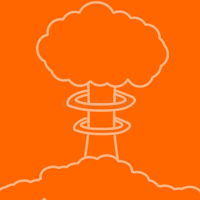Download Seta nuclear anaranjada stock de ilustración. Ilustración de terror - 7285829