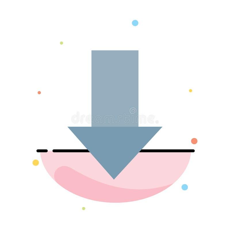 Seta, para baixo, abaixo da seta, molde liso do ícone da cor do sumário do sentido ilustração royalty free