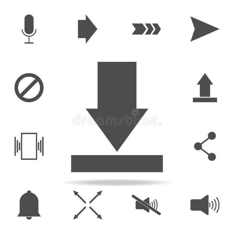 seta para baixo ao ícone grupo universal dos ícones da Web para a Web e o móbil ilustração stock
