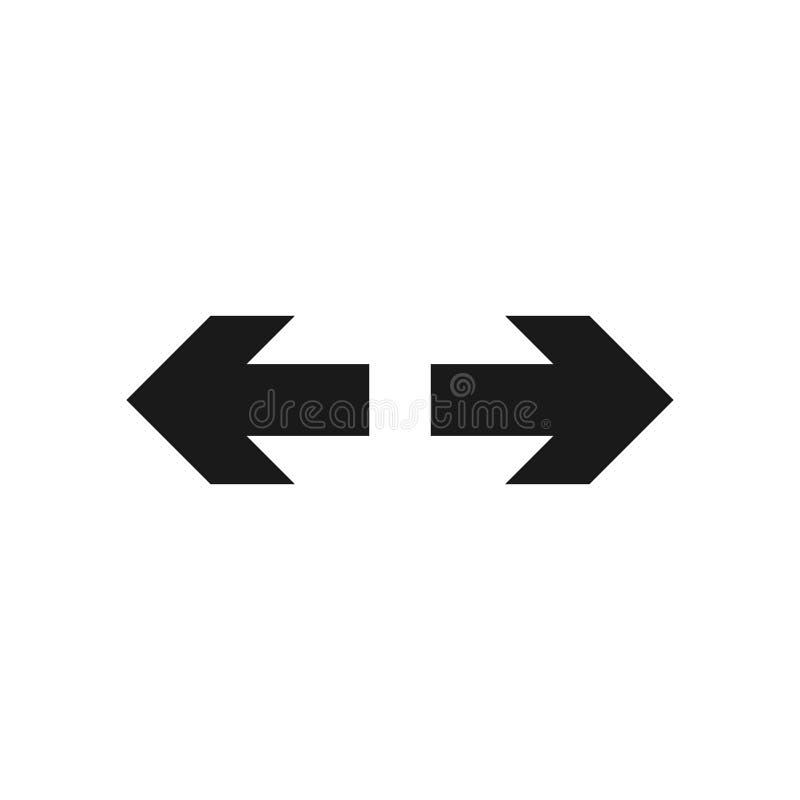 Seta para a esquerda, símbolo 3 ilustração royalty free