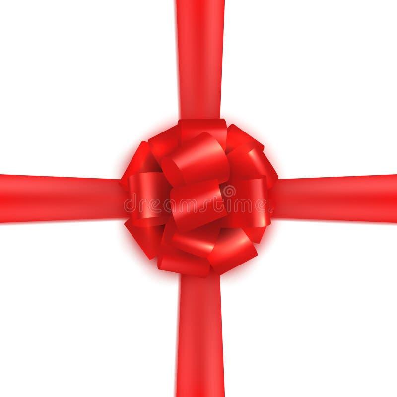 Seta realistica rossa di spostamento di regalo illustrazione vettoriale