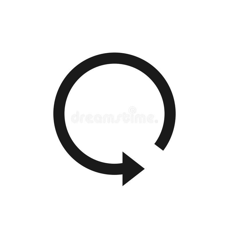 A seta, refresca, atualiza o ícone Ilustração do vetor, projeto liso ilustração royalty free