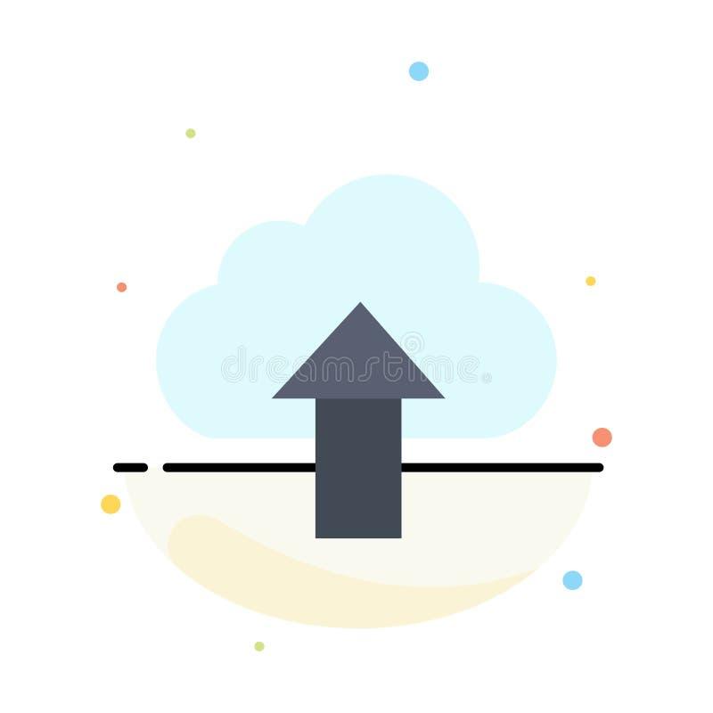 Seta, transferência de arquivo pela rede, acima, molde liso do ícone da cor do sumário da nuvem ilustração do vetor