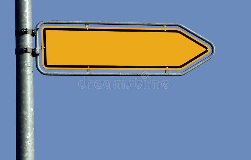 Seta vazia do estrada-sinal fotografia de stock