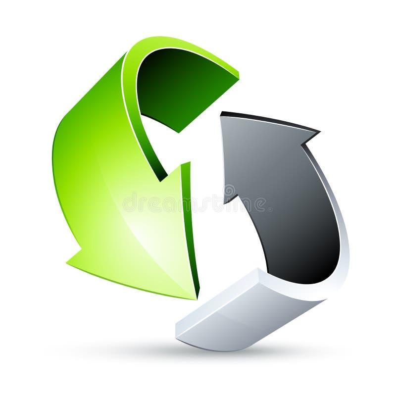 Seta verde de giro ilustração stock