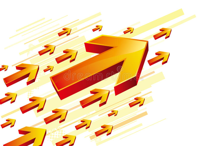 seta vermelha ilustração do vetor