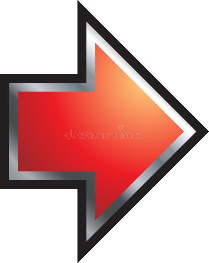 Seta vermelha 3d ilustração royalty free