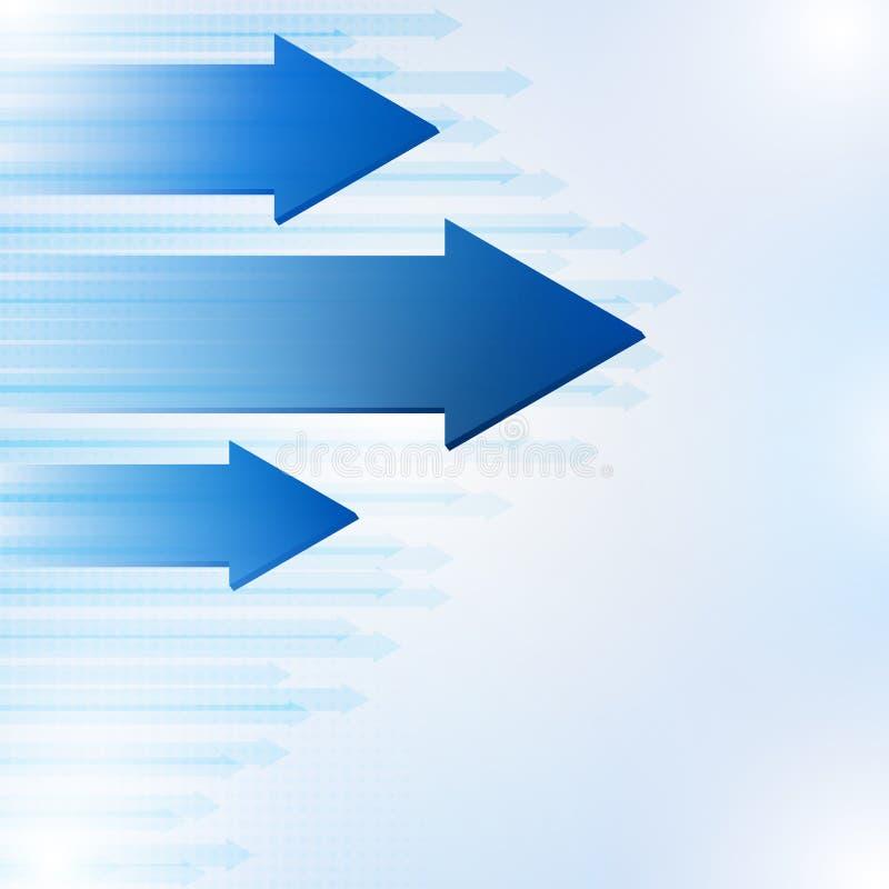Setas abstratas azuis fundo, ilustração do vetor ilustração stock