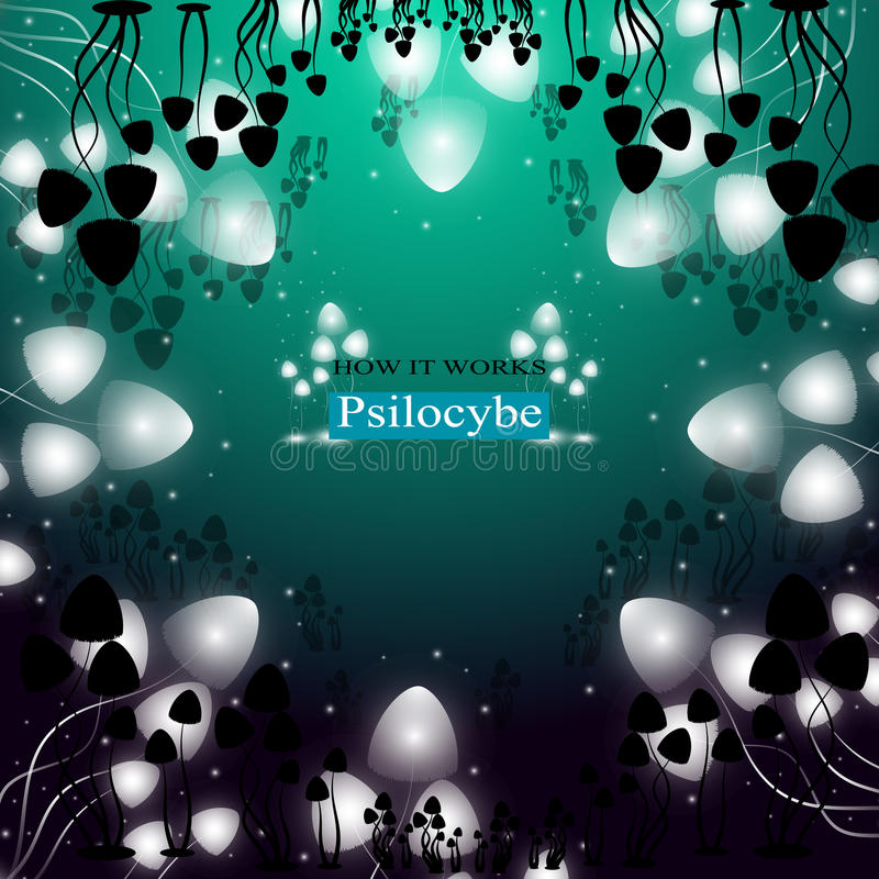 Setas alucinógenas Psilocybe libre illustration