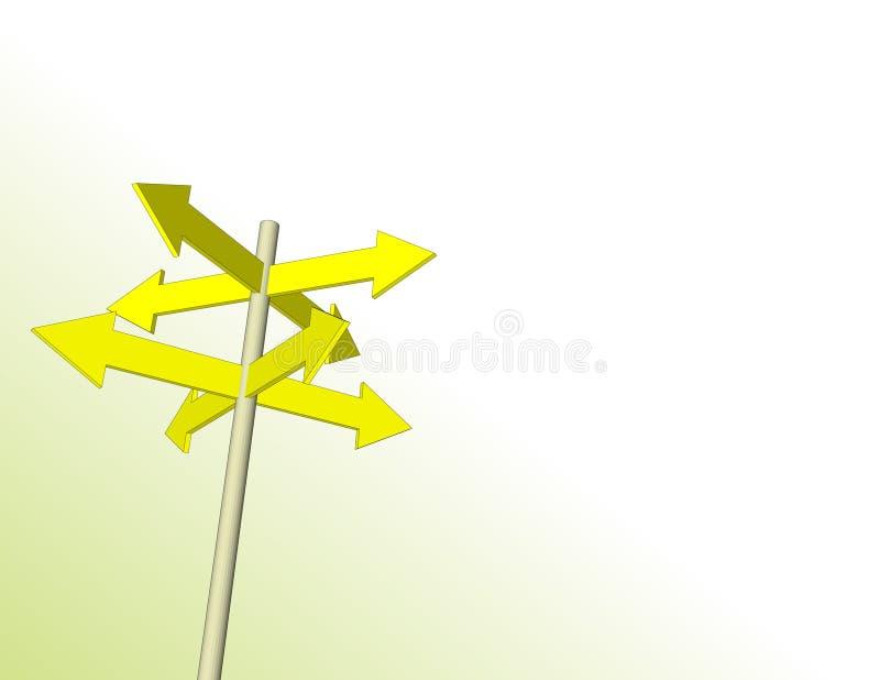 Setas amarelas do sentido ilustração do vetor