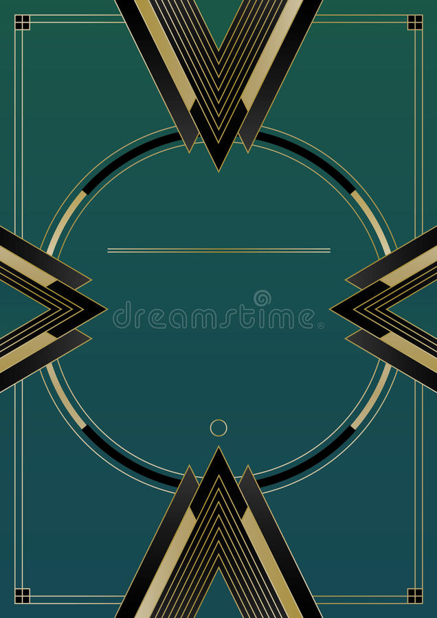 Setas Art Deco Background ilustração royalty free