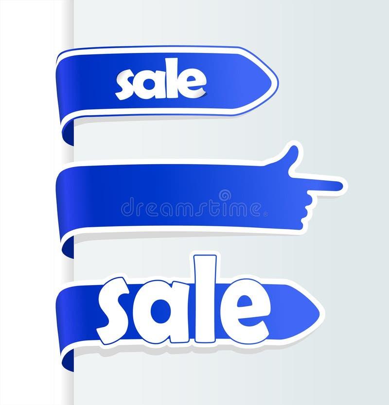 Setas azuis da venda ilustração royalty free