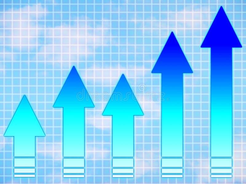 Setas azuis: gráfico ilustração do vetor