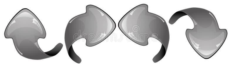 Setas cinzentas ilustração do vetor