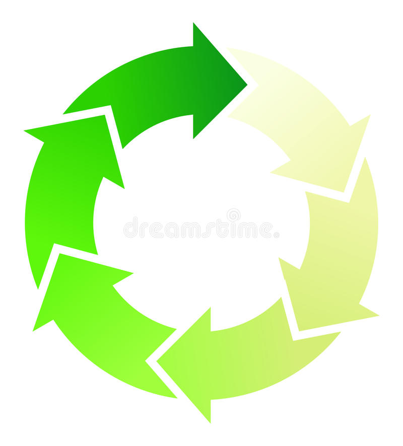 Setas circulares ilustração royalty free