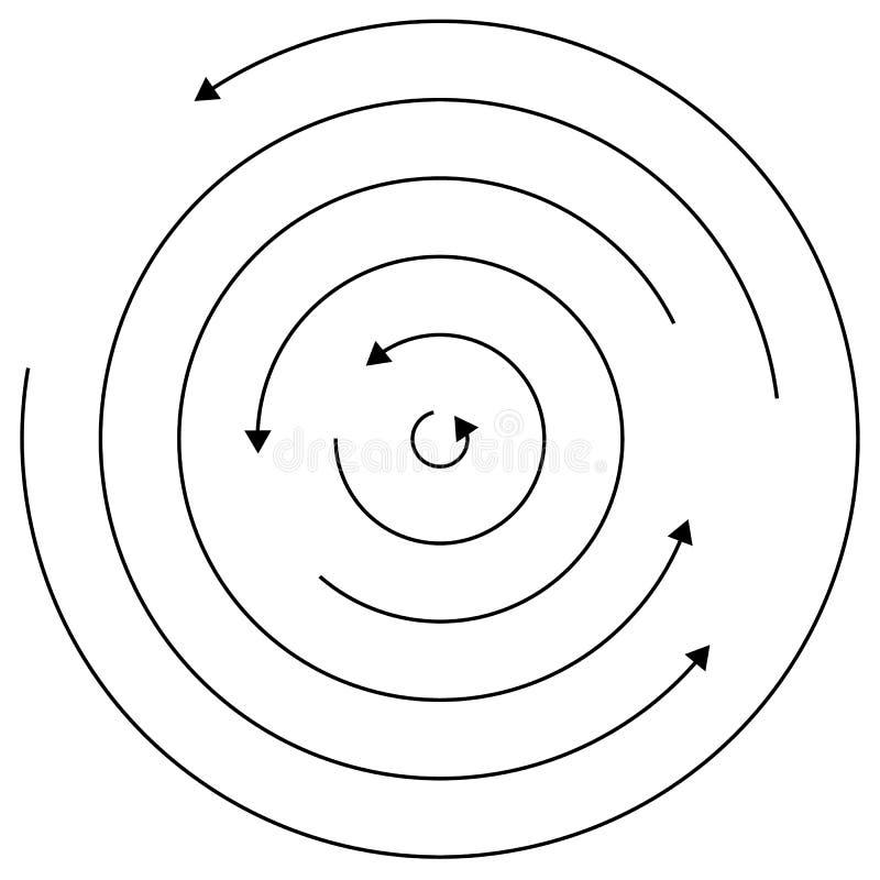 Setas circulares - círculos concêntricos aleatórios com as setas para twis ilustração royalty free