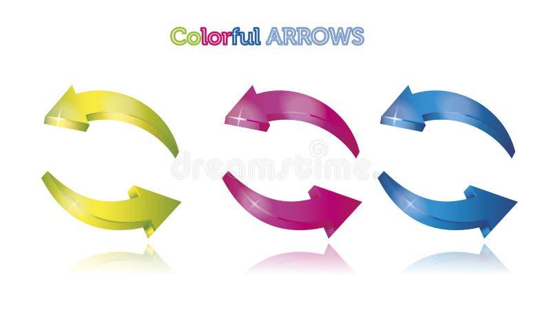 Setas coloridas ilustração stock