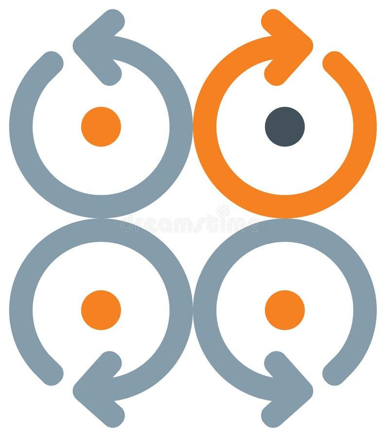 Setas com círculo ilustração stock