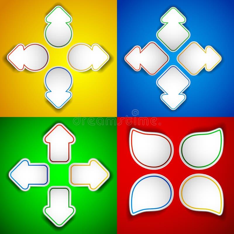 Setas de papel ilustração do vetor