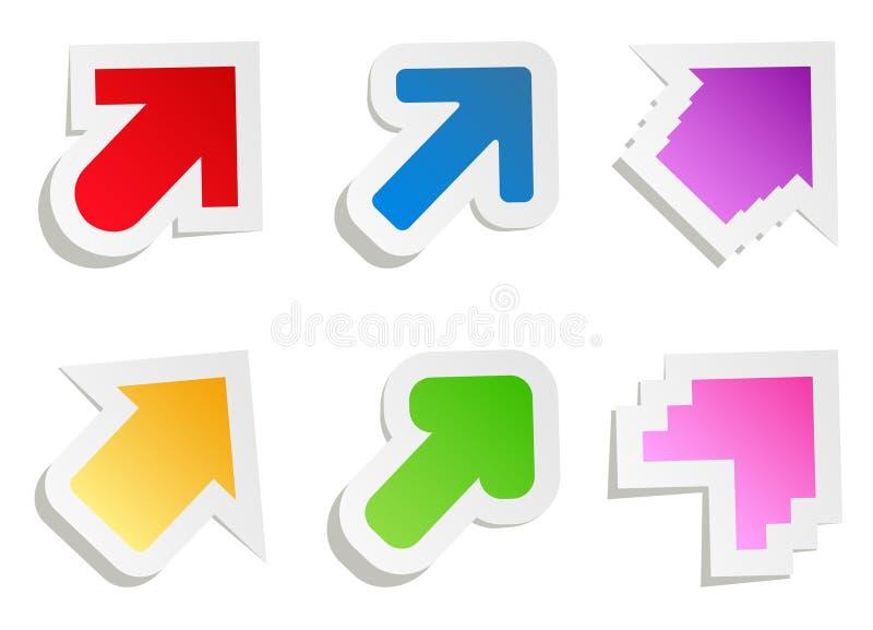 Setas de papel do vetor ilustração do vetor