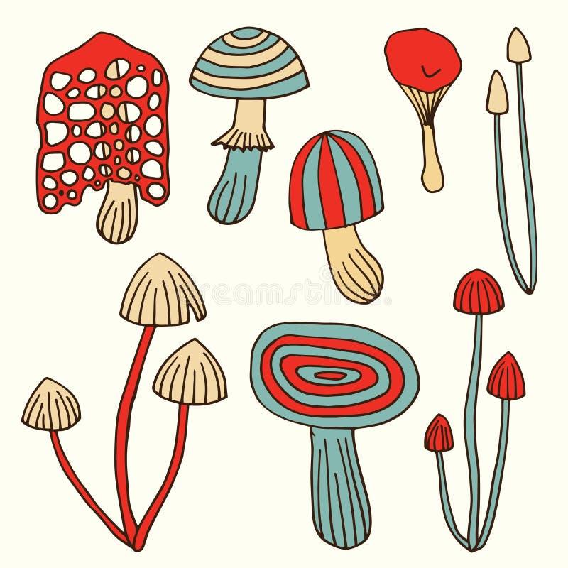 Setas dibujadas mano fijadas stock de ilustración