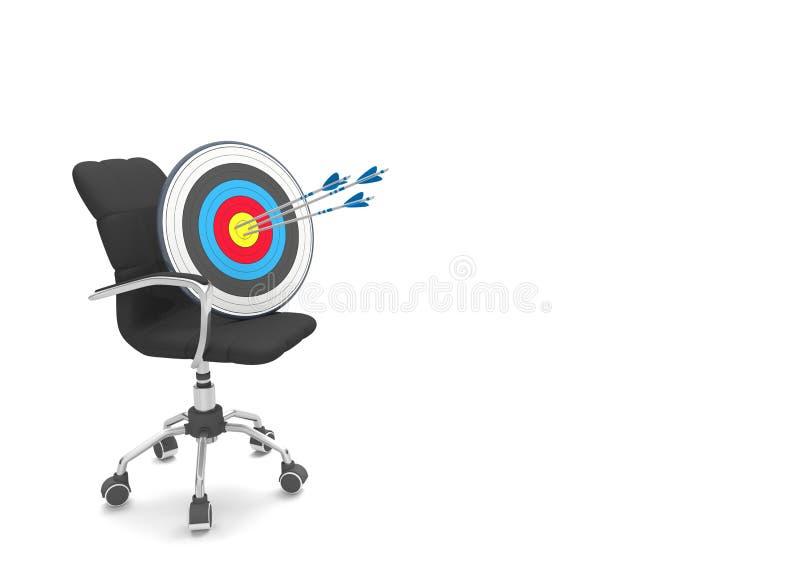Setas do alvo 3 da cadeira de giro ilustração stock