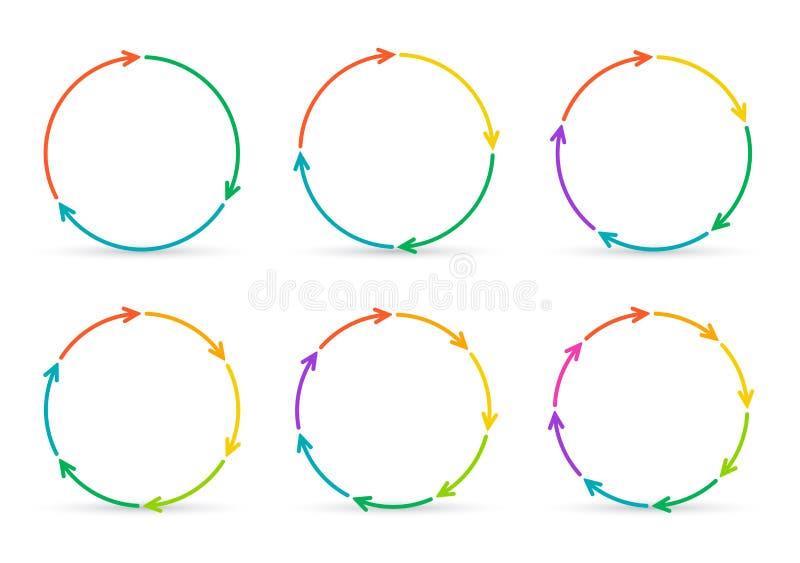 Setas do círculo do vetor para infographic ilustração do vetor