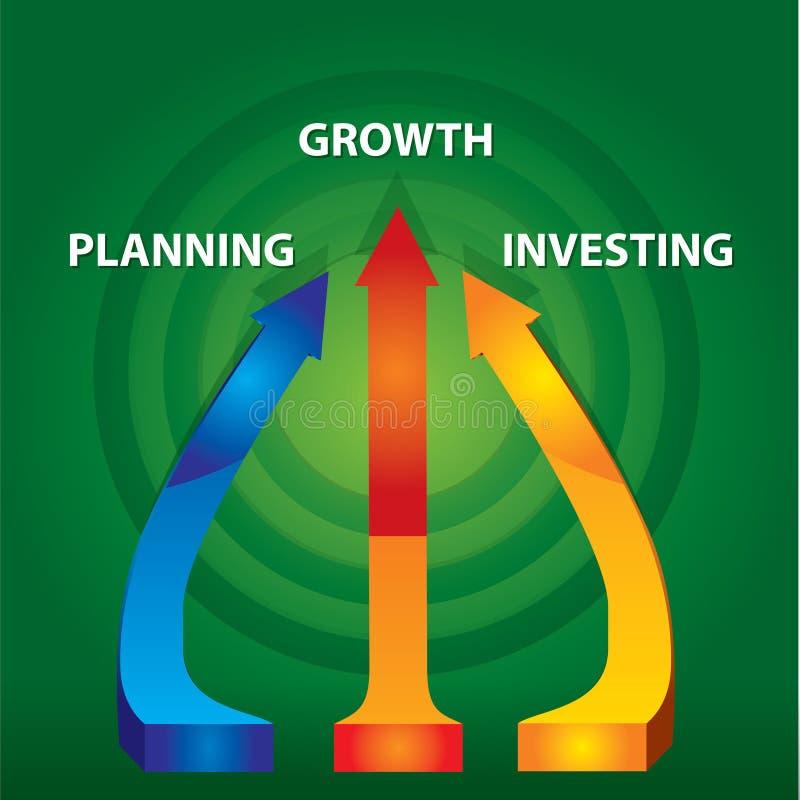 Setas do crescimento ilustração do vetor