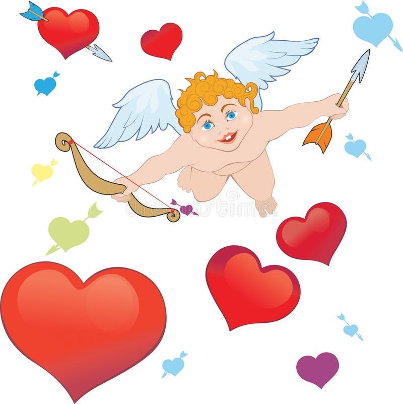 Setas do Cupid ilustração royalty free