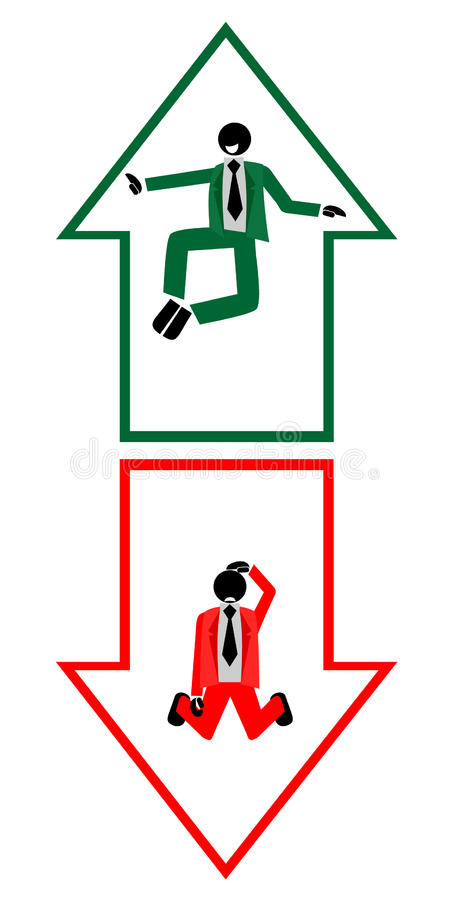 Setas do negócio ilustração royalty free