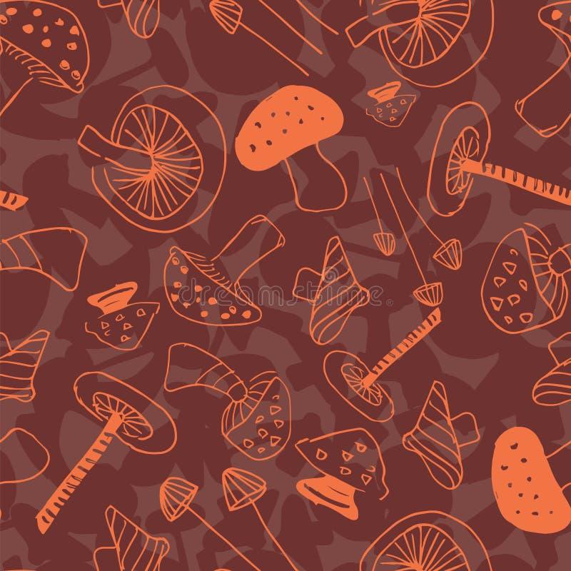 Setas lineares anaranjadas y verdes stock de ilustración