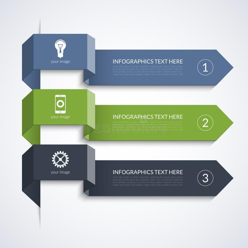 Setas mínimas modernas para o infographics do negócio ilustração royalty free