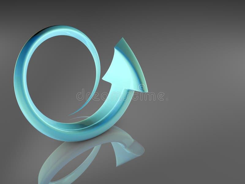 Setas na ilustração 3D foto de stock