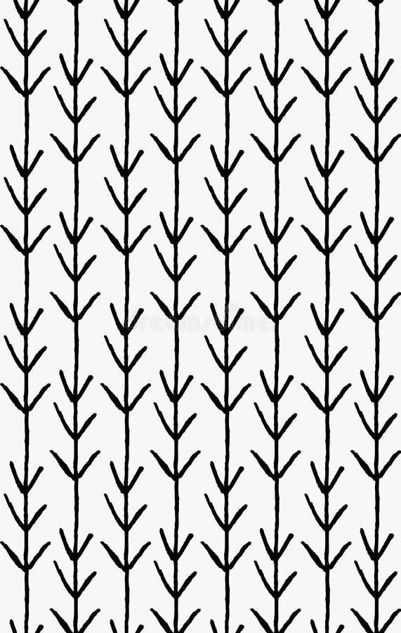 Setas pretas do vertical do marcador ilustração stock