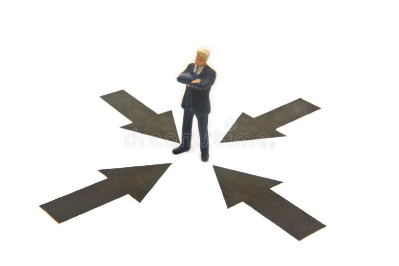 Download Setas que apontam ao homem imagem de stock. Imagem de businessman - 10068745