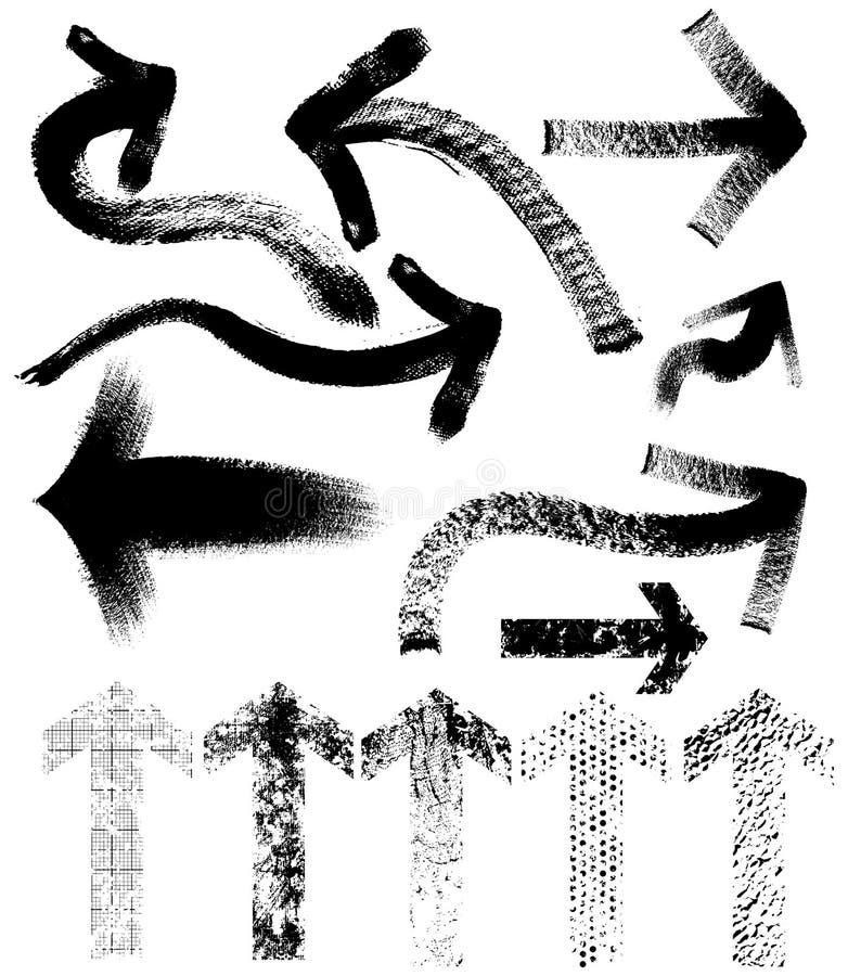 Setas sujas ilustração do vetor
